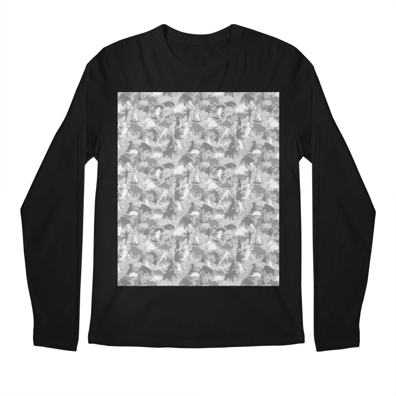 camos grey Men's Longsleeve T-Shirt by delcored
