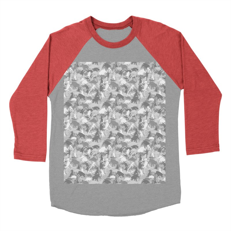 camos grey Women's Baseball Triblend T-Shirt by delcored