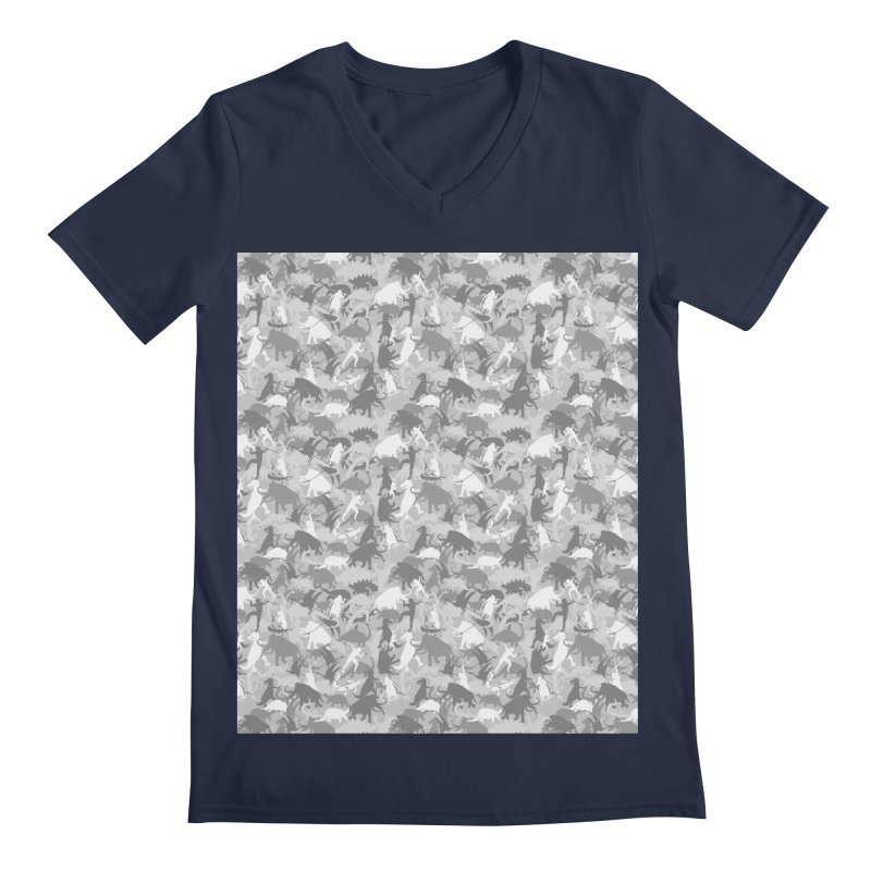 camos grey Men's V-Neck by delcored