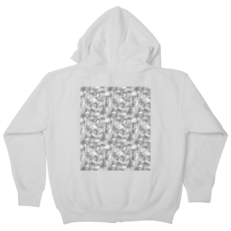 camos grey Kids Zip-Up Hoody by delcored