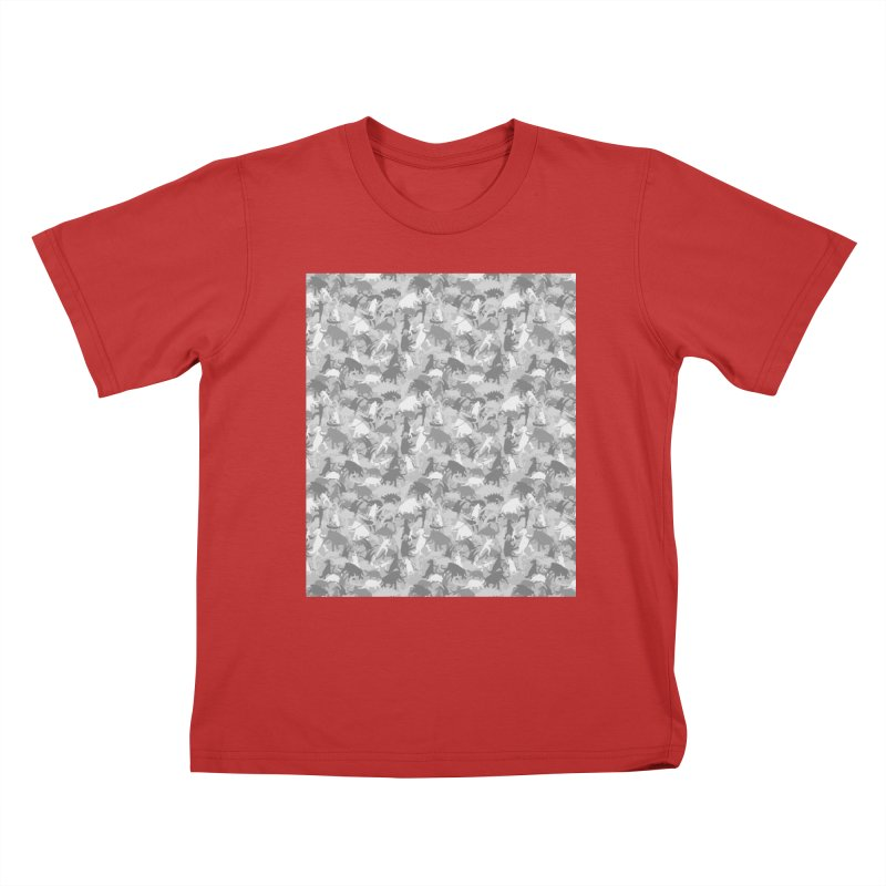 camos grey Kids T-Shirt by delcored