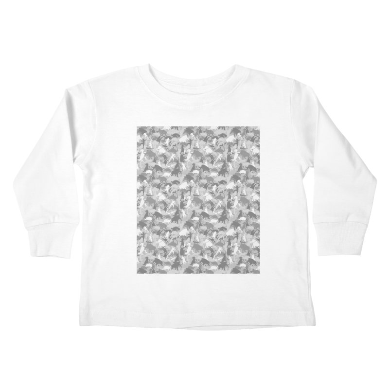 camos grey Kids Toddler Longsleeve T-Shirt by delcored