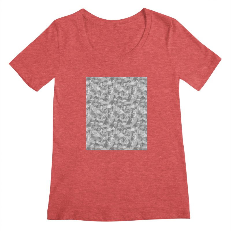 camos grey Women's Scoopneck by delcored