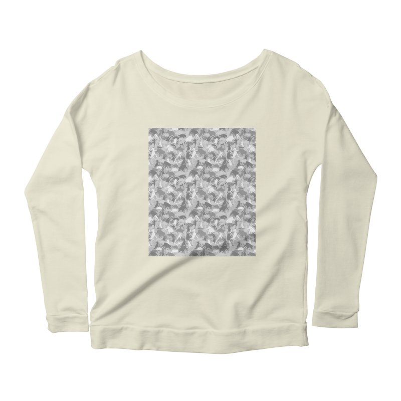 camos grey Women's Longsleeve Scoopneck  by delcored