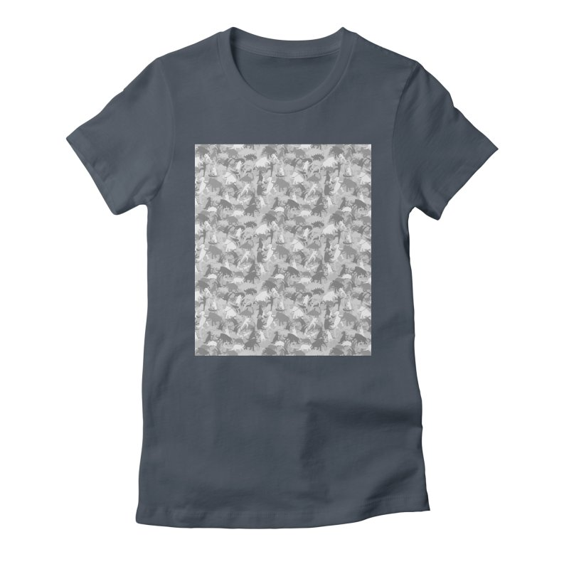 camos grey Women's Fitted T-Shirt by delcored