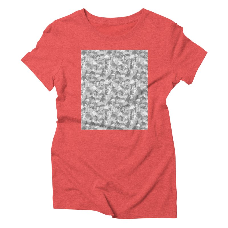 camos grey Women's Triblend T-Shirt by delcored