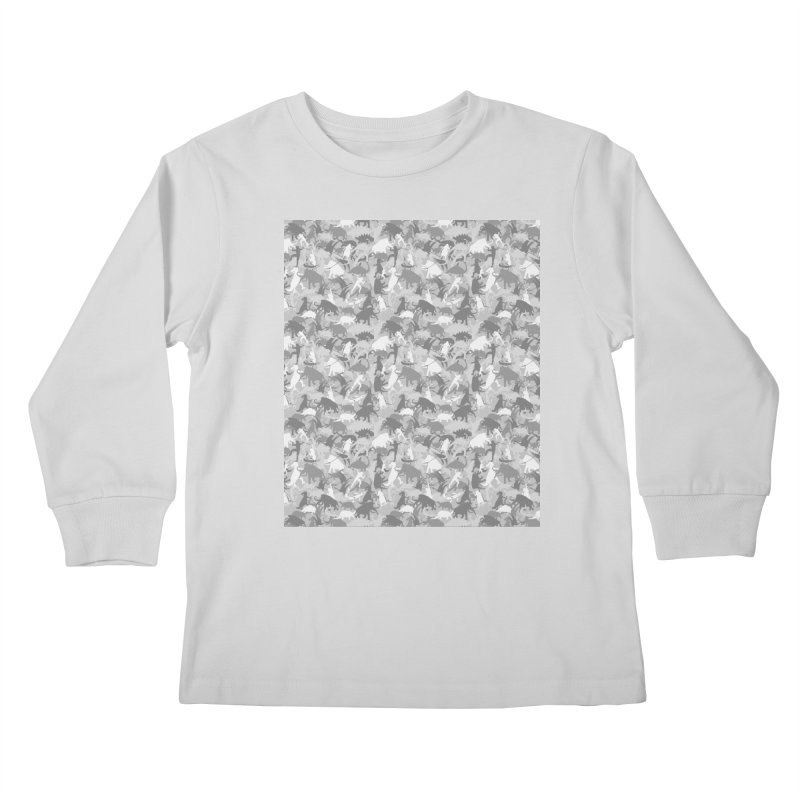 camos grey Kids Longsleeve T-Shirt by delcored