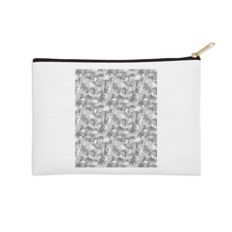 camos grey Accessories Zip Pouch by delcored