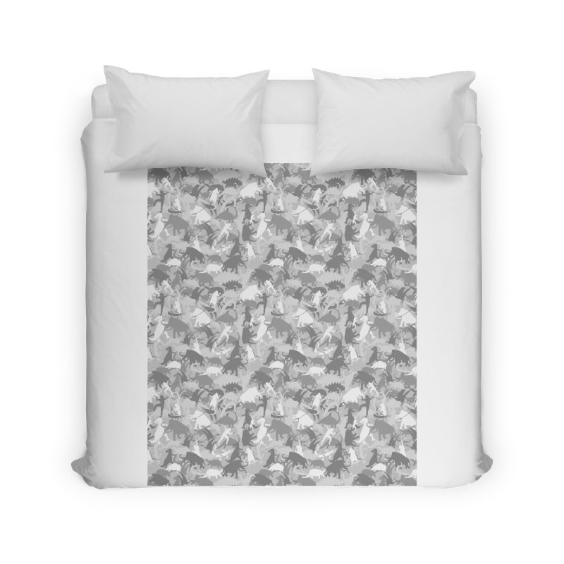 camos grey Home Duvet by delcored