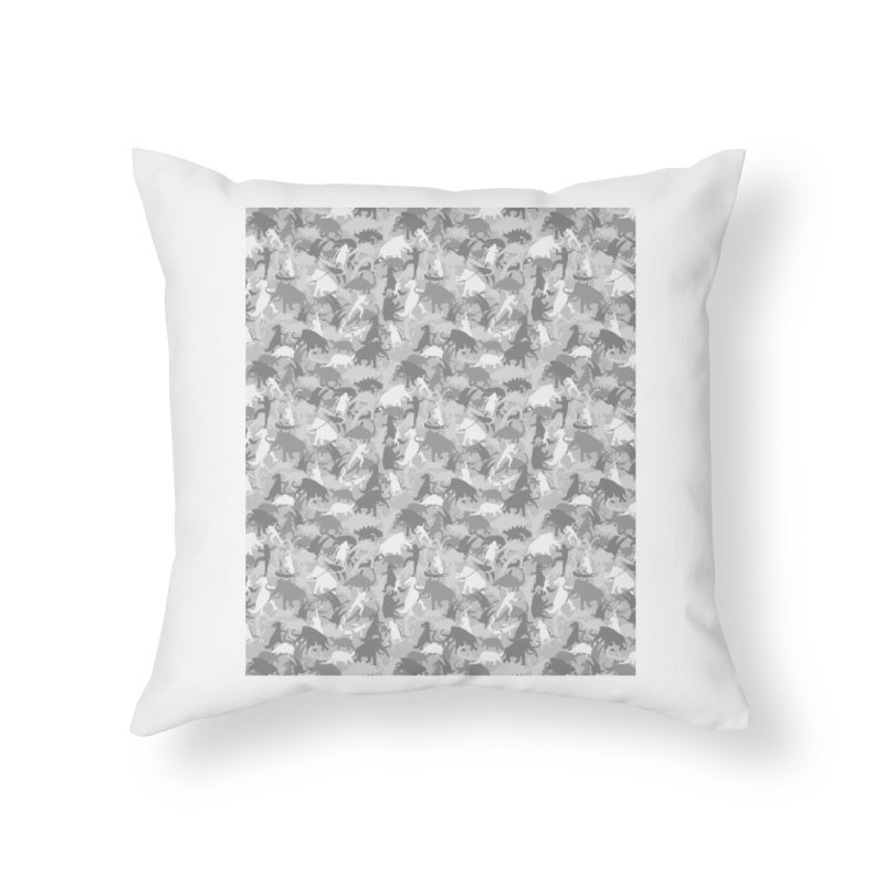 camos grey Home Throw Pillow by delcored