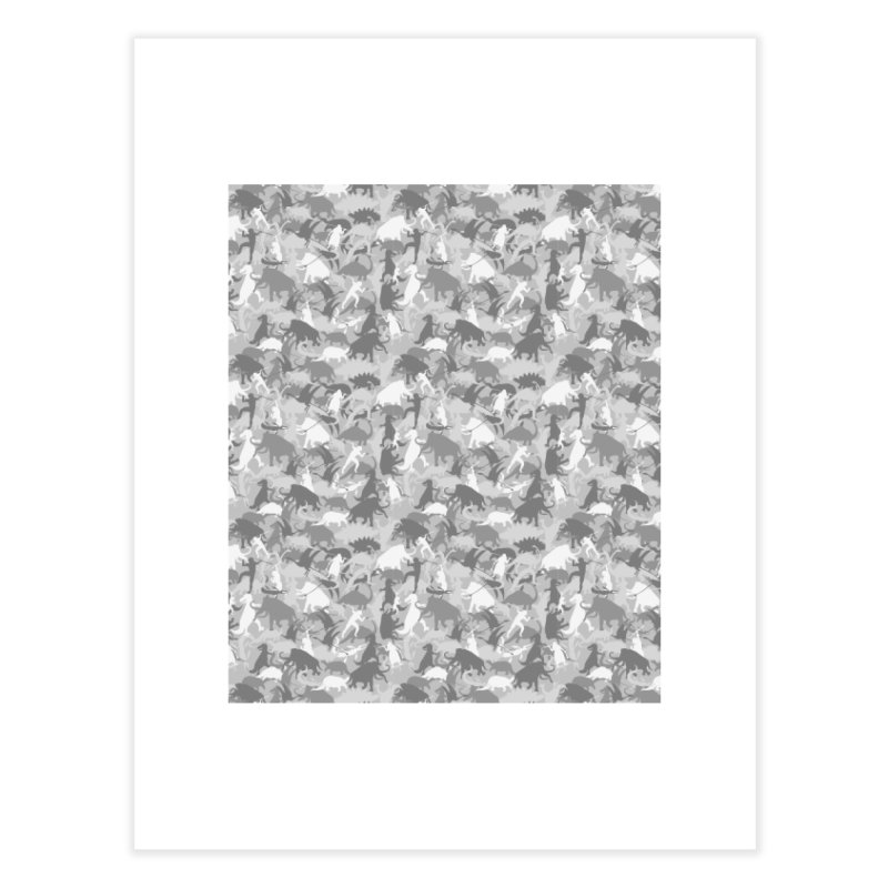 camos grey Home Fine Art Print by delcored