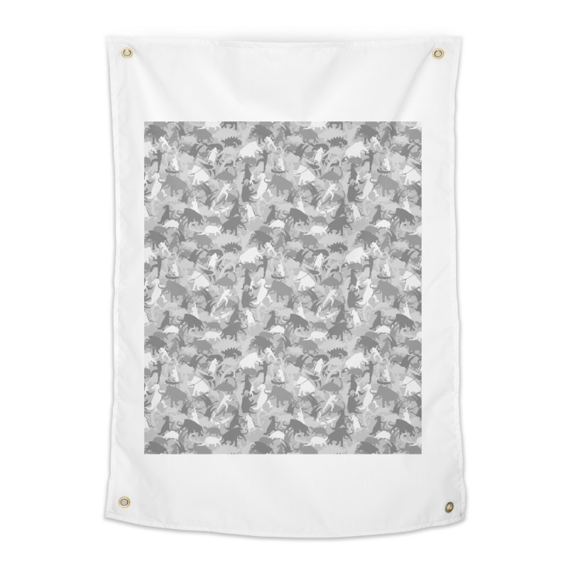 camos grey Home Tapestry by delcored