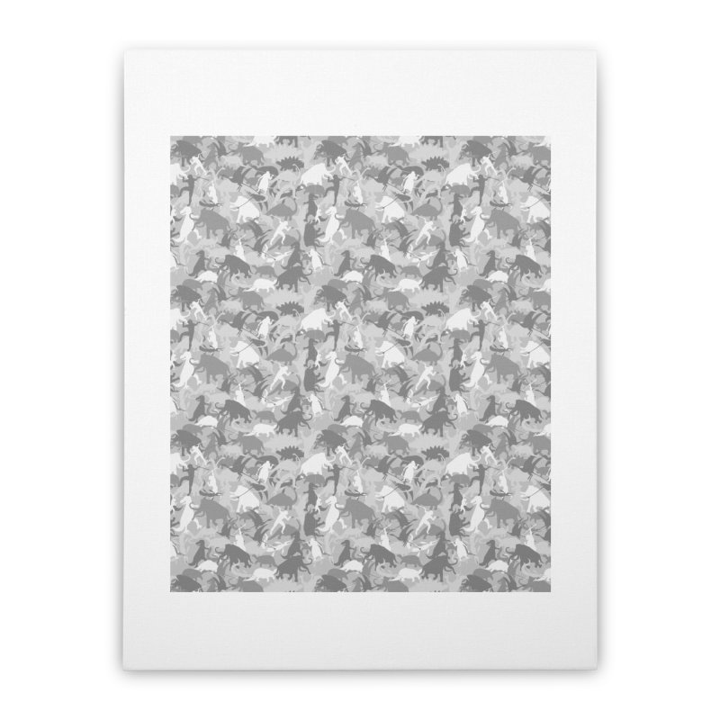 camos grey Home Stretched Canvas by delcored