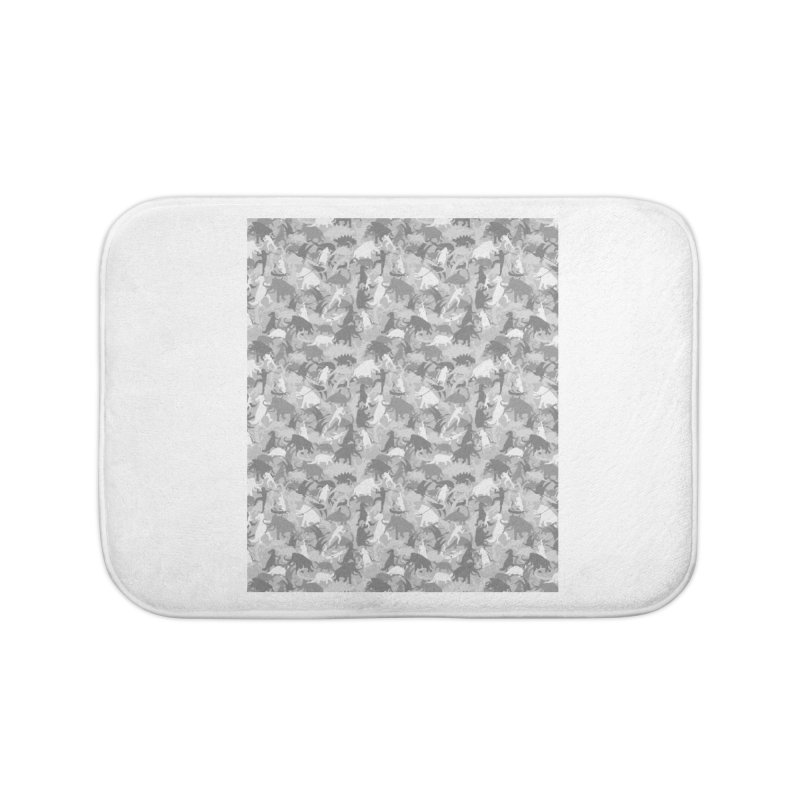 camos grey Home Bath Mat by delcored