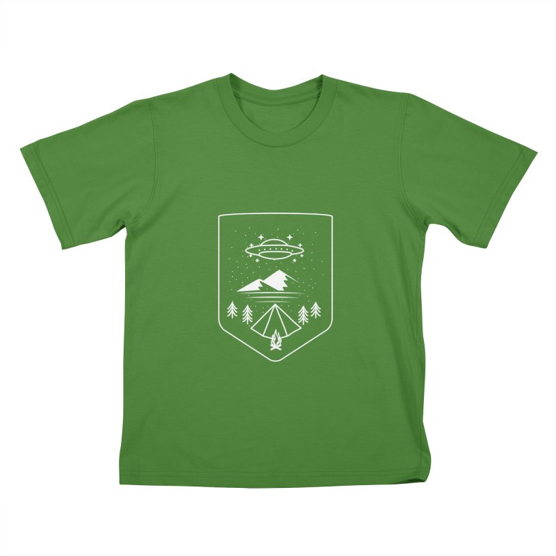 Unidentified Winter Camp Kids T-Shirt by delcored