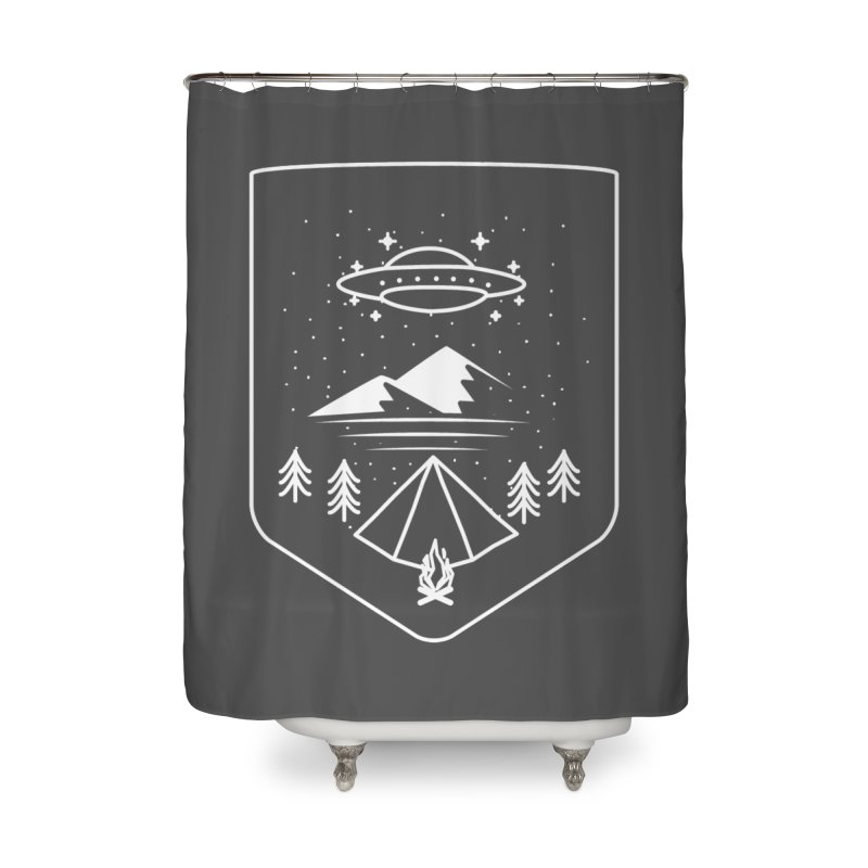 Unidentified Winter Camp Home Shower Curtain by delcored