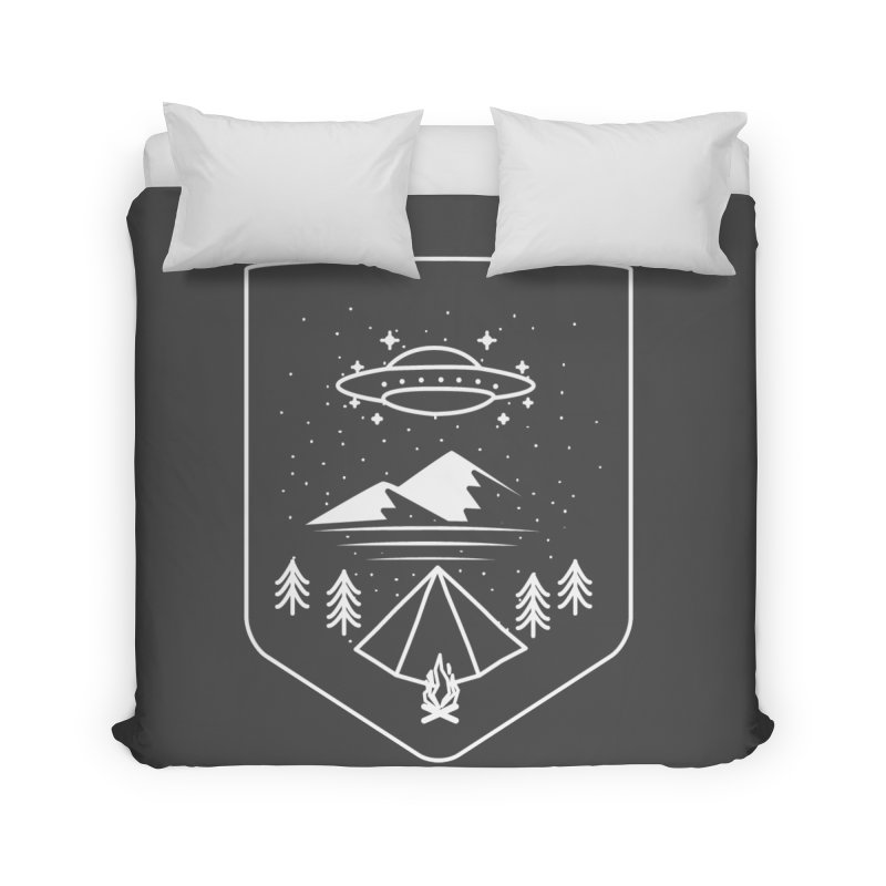 Unidentified Winter Camp Home Duvet by delcored