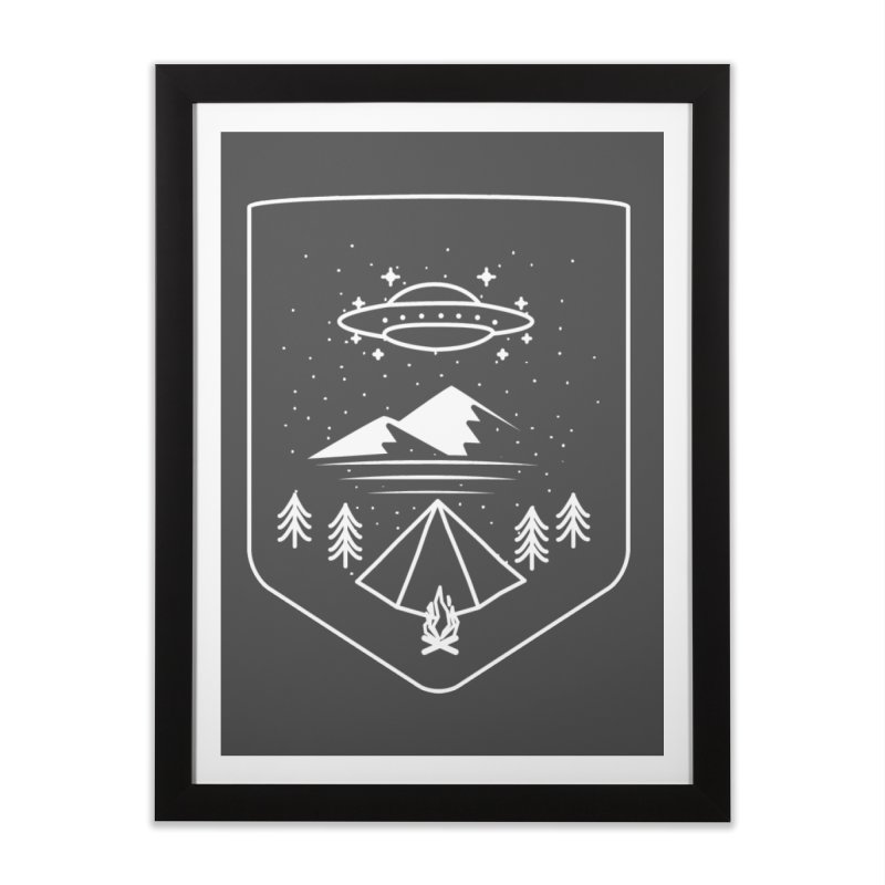 Unidentified Winter Camp Home Framed Fine Art Print by delcored