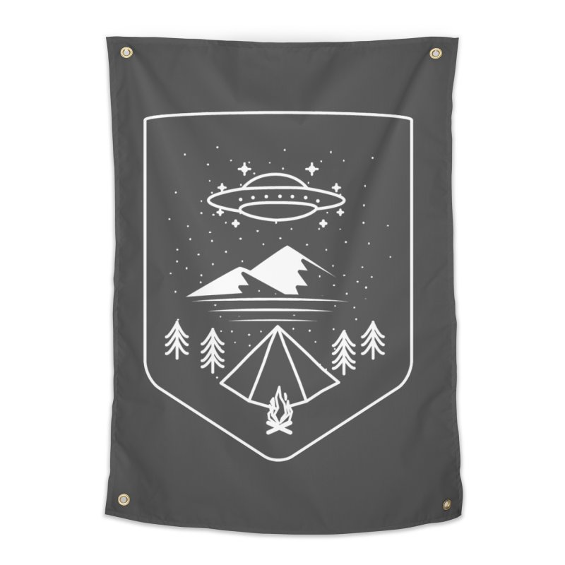 Unidentified Winter Camp Home Tapestry by delcored