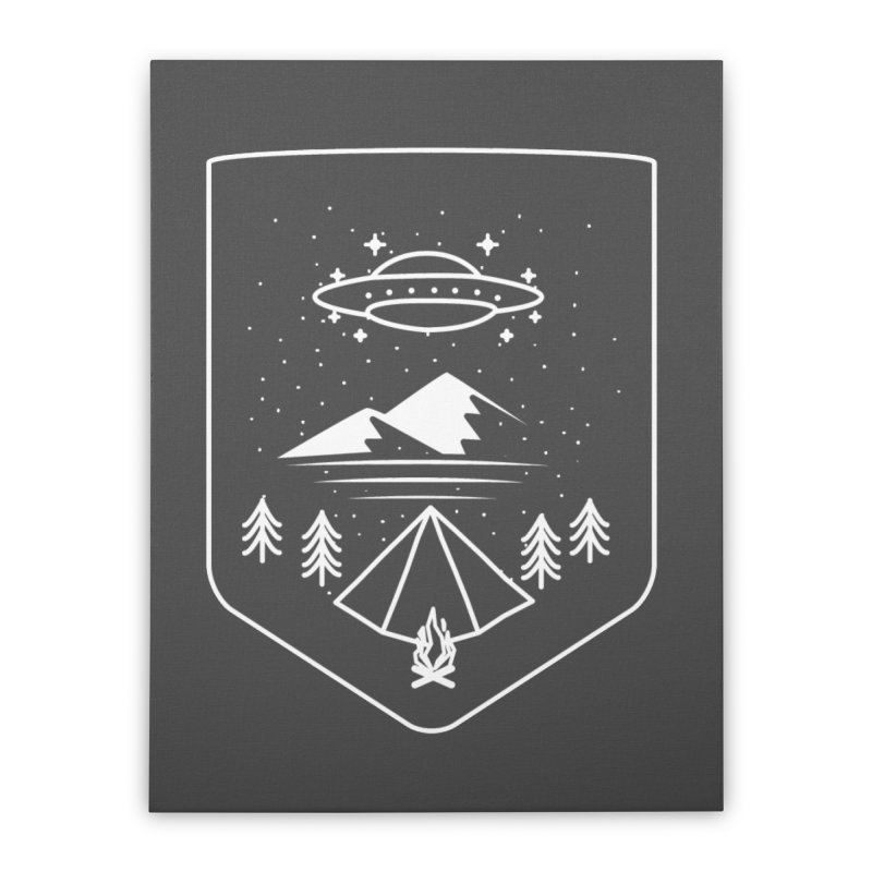 Unidentified Winter Camp Home Stretched Canvas by delcored