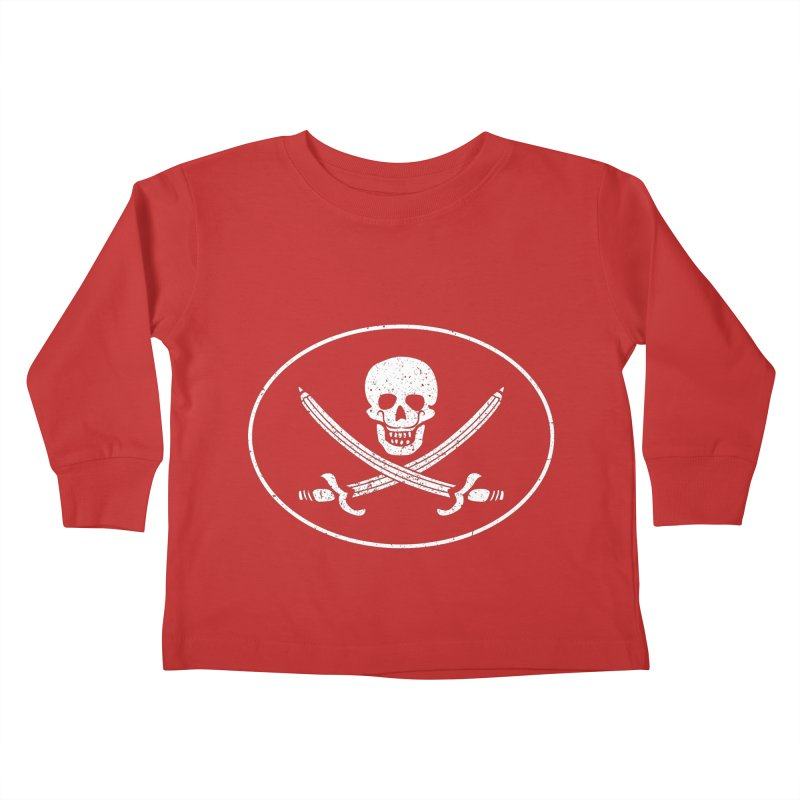 pirateart Kids Toddler Longsleeve T-Shirt by delcored