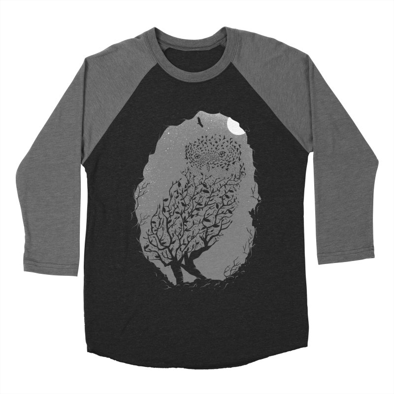 Baby Owlicious Men's Baseball Triblend T-Shirt by delcore's Artist Shop