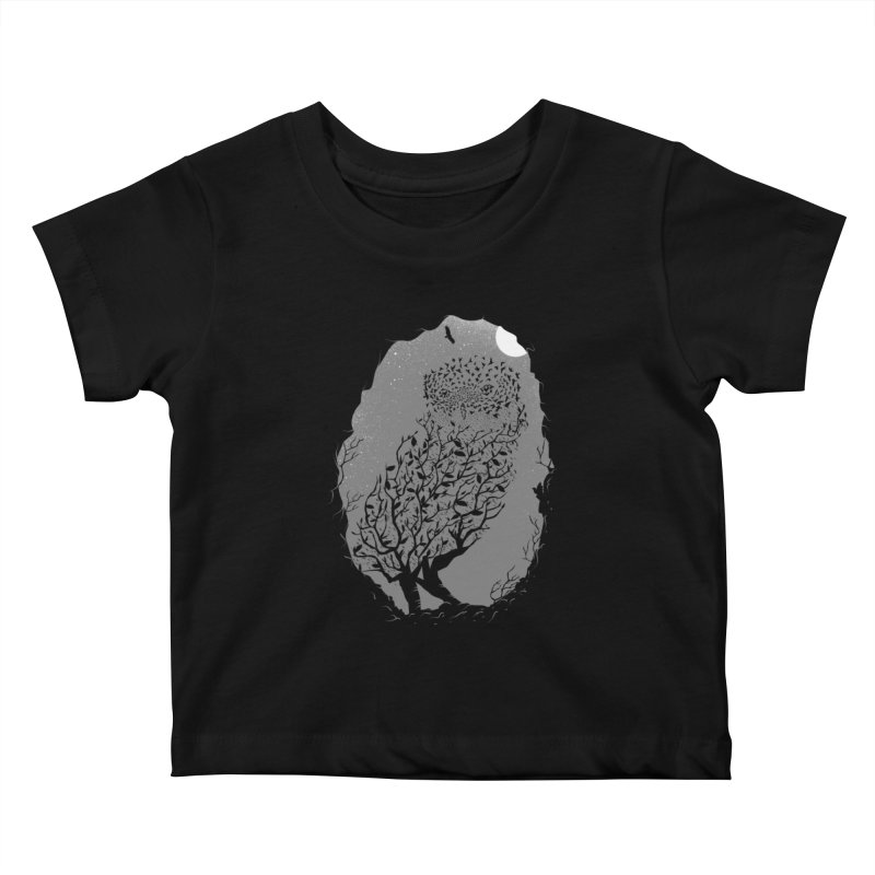 Baby Owlicious Kids Baby T-Shirt by delcore's Artist Shop
