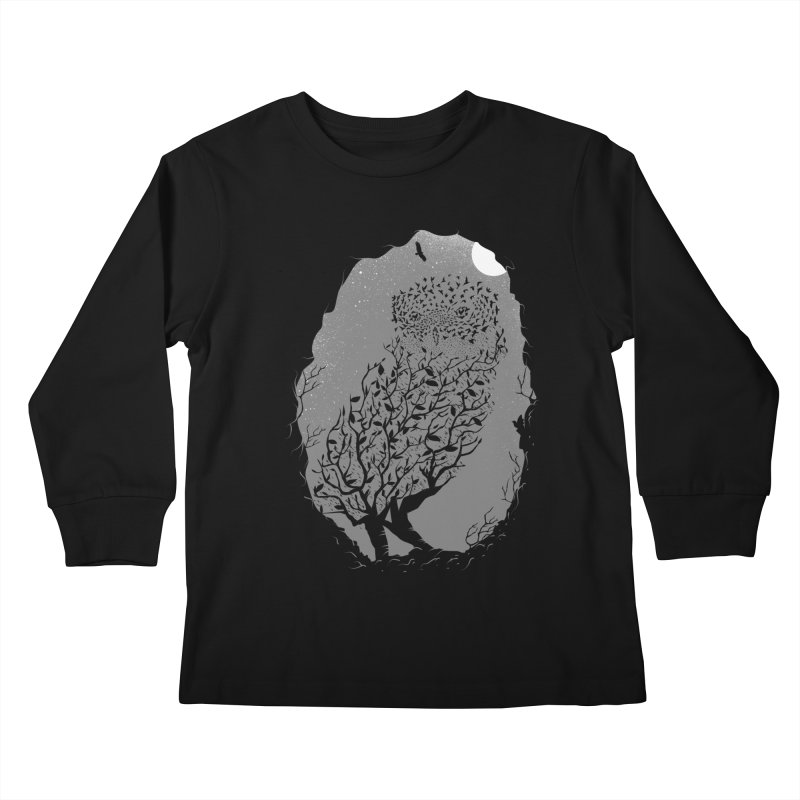 Baby Owlicious Kids Longsleeve T-Shirt by delcore's Artist Shop