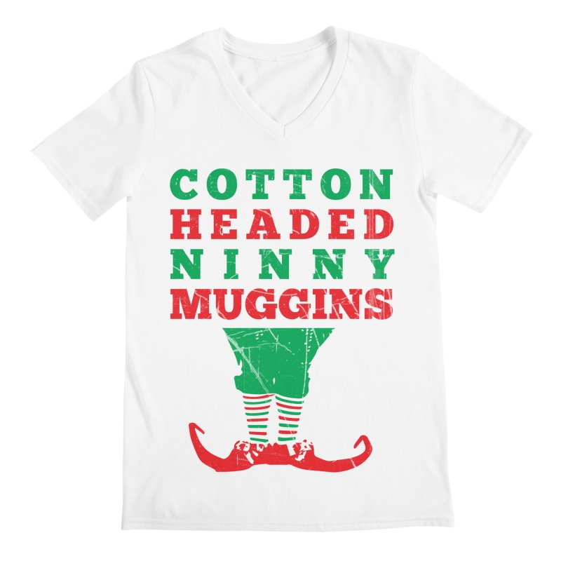 Cotton Headed Ninny Muggins Men's V-Neck by Delete Designs
