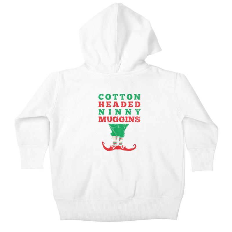 Cotton Headed Ninny Muggins Kids Baby Zip-Up Hoody by Delete Designs