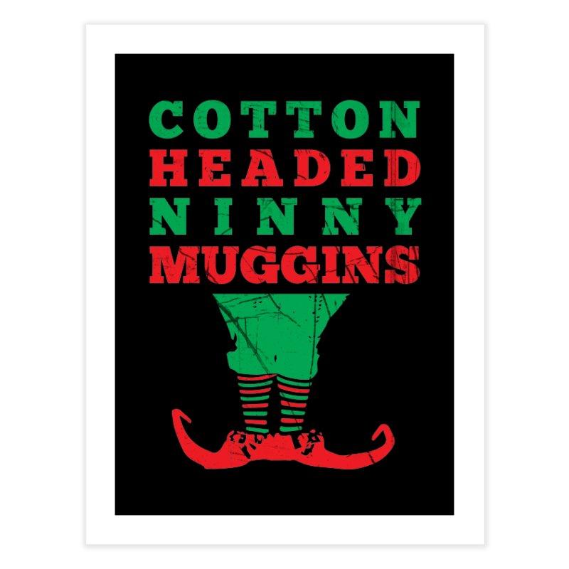 Cotton Headed Ninny Muggins Home Fine Art Print by Delete Designs