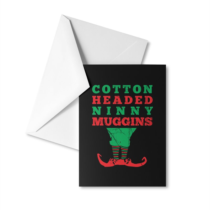 Cotton Headed Ninny Muggins Accessories Greeting Card by Delete Designs