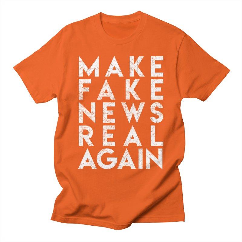 Make Fake NEWS Real Again Men's T-Shirt by Delete Designs