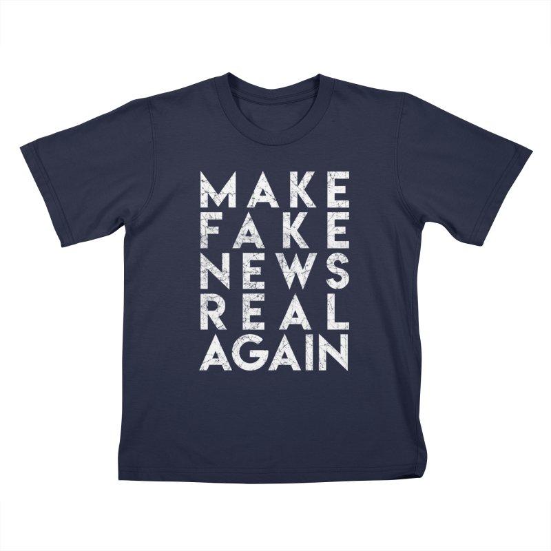 Make Fake NEWS Real Again Kids T-Shirt by Delete Designs