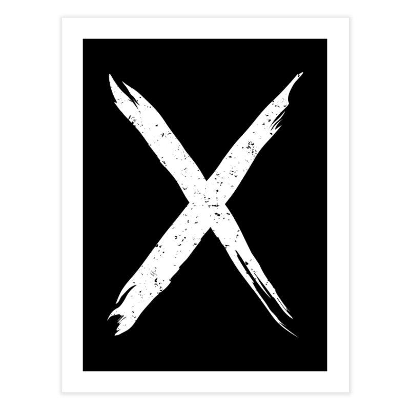 X Marks The Spot Home Fine Art Print by Delete Designs
