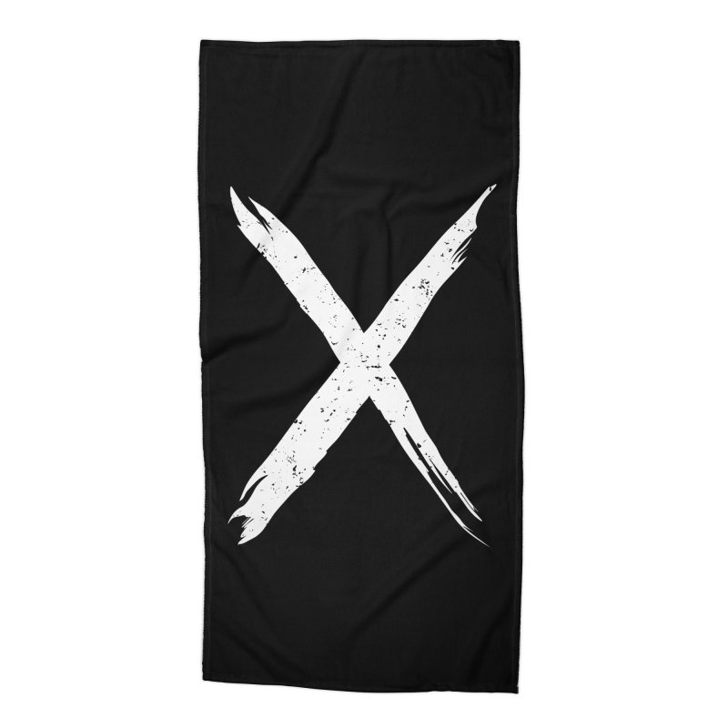 X Marks The Spot Accessories Beach Towel by Delete Designs