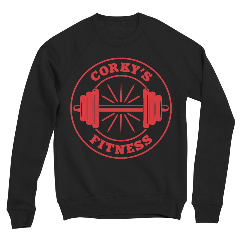 Corky's Fitness Men's Sweatshirt by Delete Designs