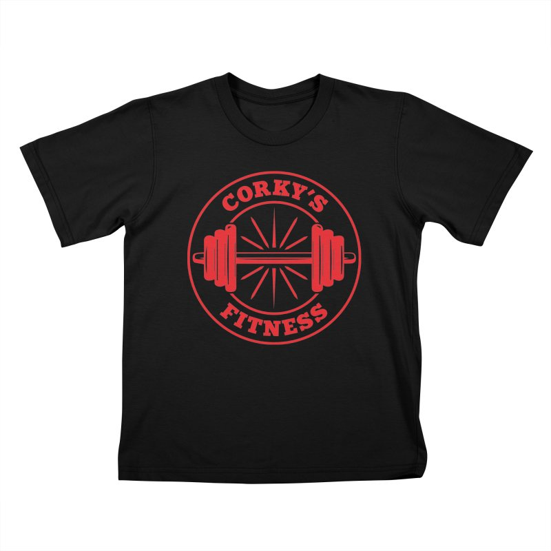 Corky's Fitness Kids T-Shirt by Delete Designs
