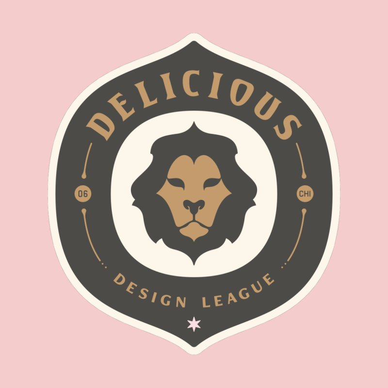 Classic DDL Logo Men's V-Neck by Delicious Design League