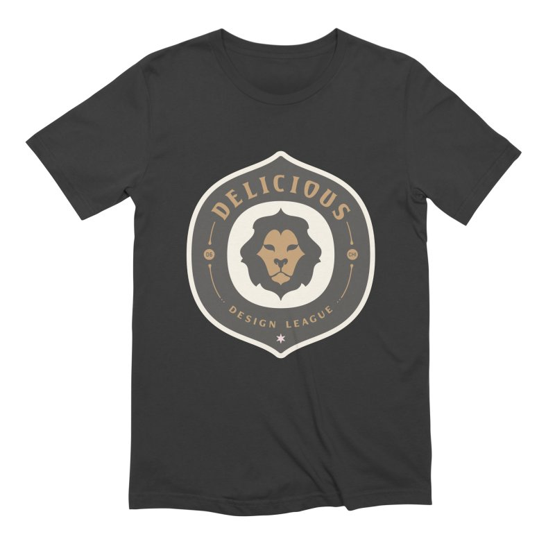 Classic DDL Logo in Men's Extra Soft T-Shirt Smoke by Delicious Design League