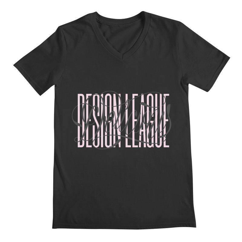 DDL Intertwined Script Logo Men's V-Neck by Delicious Design League