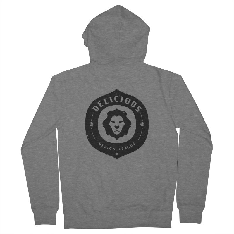 DDL Logo Roughened Men's Zip-Up Hoody by Delicious Design League