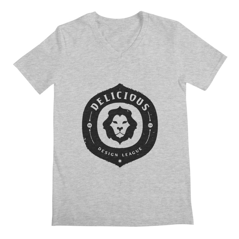DDL Logo Roughened Men's V-Neck by Delicious Design League