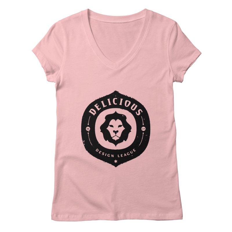 DDL Logo Roughened Women's V-Neck by Delicious Design League