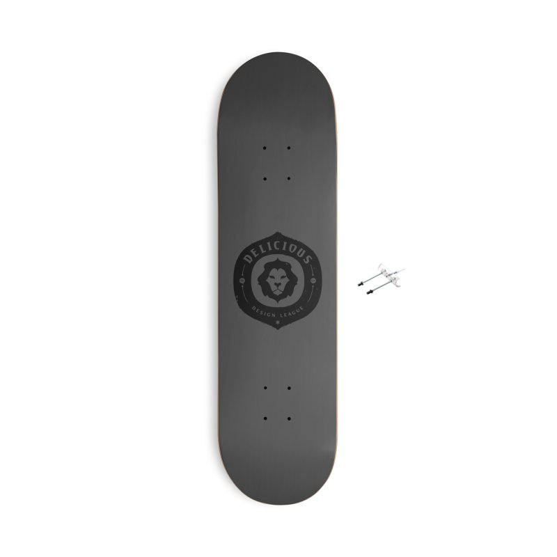 DDL Logo Roughened Accessories Skateboard by Delicious Design League