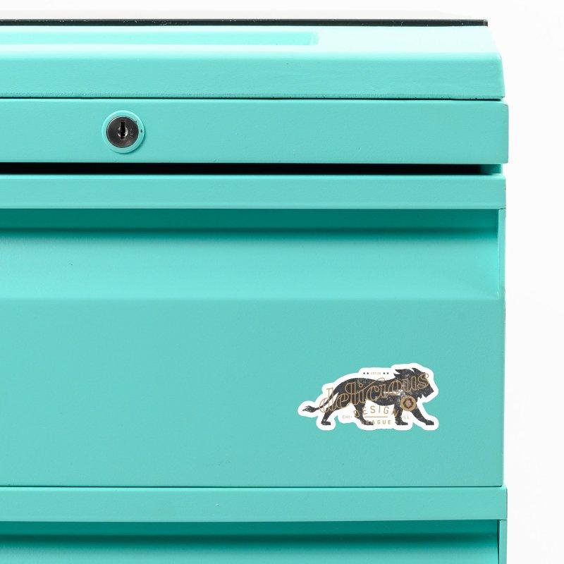 Delicious Logo Lion Lock-up Accessories Magnet by Delicious Design League
