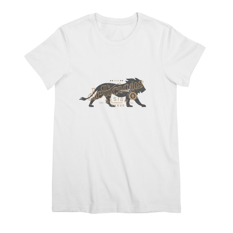 Delicious Logo Lion Lock-up Women's T-Shirt by Delicious Design League