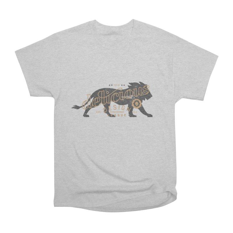 Delicious Logo Lion Lock-up Men's T-Shirt by Delicious Design League