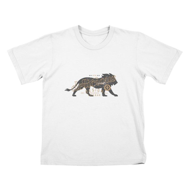 Delicious Logo Lion Lock-up Kids T-Shirt by Delicious Design League
