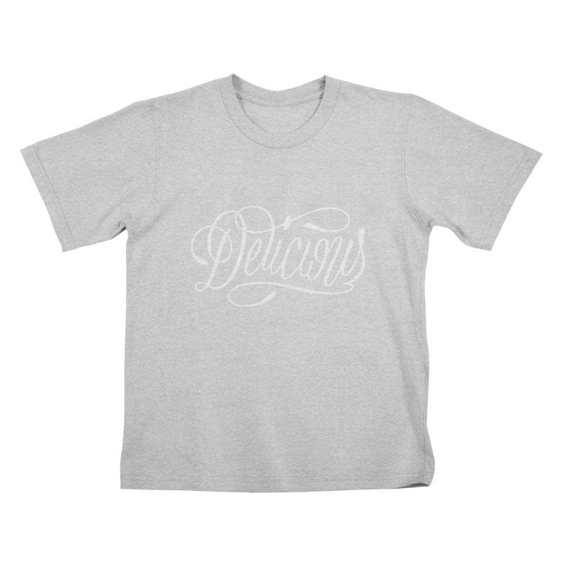 Delicious Script Kids T-Shirt by Delicious Design League